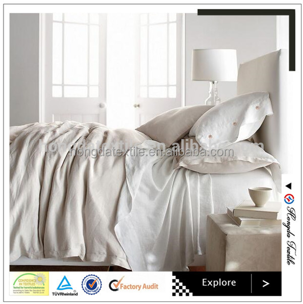 High quality 100% linen bedding set/classic home textile