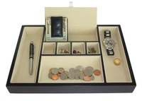 Keys, Phone, Jewelry, Watches, and Accessories Of Wood Valet Tray Desk Dresser Drawer Coin Case