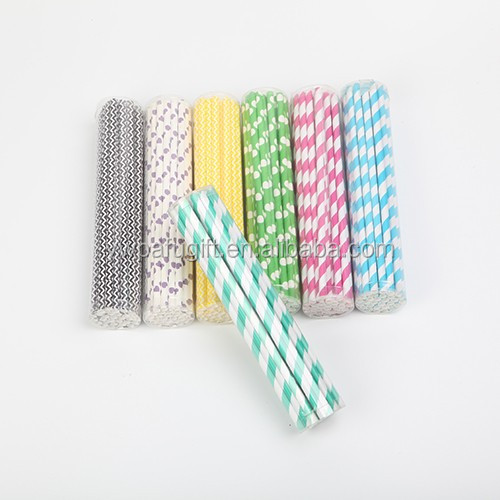 colorful printing drinking stripe paper straws
