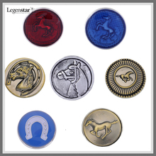 Mix Designs Horse Snap Button Interchangeable Jewelry Cheap Wholesale SBL513