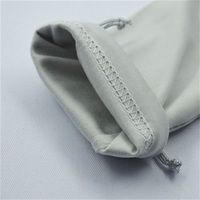 Soft Feel Washable Microfiber Pouch With Drawstring