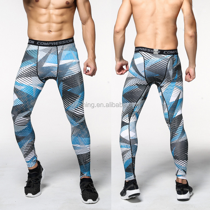 wholesale men camouflage printed yoga exercise fitness leggings pants