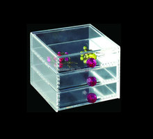 HIGH quality and NEW design custom clear acrylic jewelry box with drawer