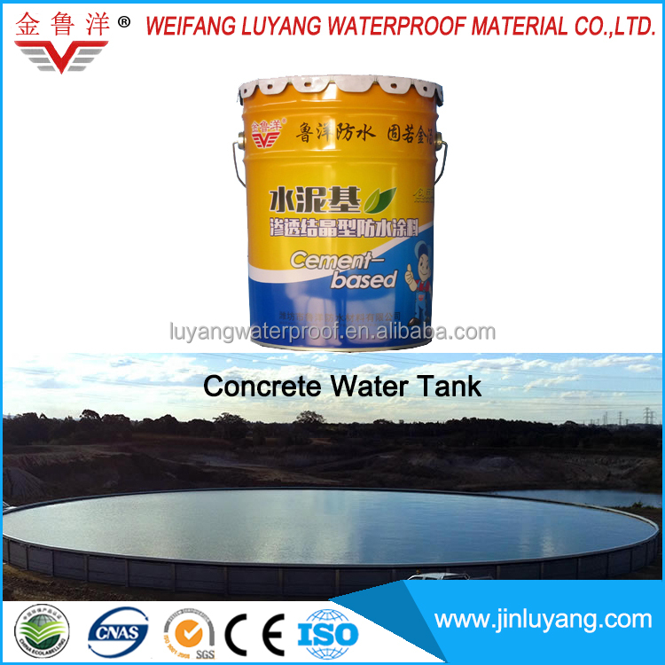 capillary crystalline waterproofing coating for concrete water tank