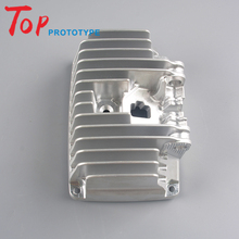 motor radiator prototype cnc machining service, mass production aluminium block metal parts maker