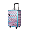 professional cosmetic trolley aluminum case manufacturer, hairdresser carrying case with wheels