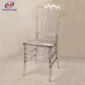 Romantic Design White Silla Tiffany Clear Crystal Napoleon Chair