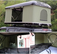 Good quality hard shell car roof top camping tent for camping with aluminum alloy folding ladder