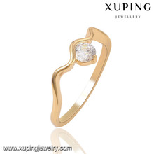 13810 xuping new design simpled gold finger ring