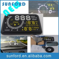 DIY heads up display car display speed /revolving speed/water temperature/gear shifting reminding/over speed alarm