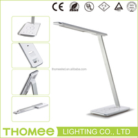 ODM bedside reading light 10W touch sensor dimmable led desk lamp with usb electrical outlet
