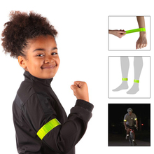 YW-PB12 Reflective Wristbands Ankle Bands Slap Wraps Running Walking Biking