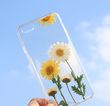High quality dried flowers phone case, Transparent phone case for Iphone
