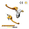HEAVY DUTY GOLD CNC PIT DIRT BIKE FOLDING CLUTCH BRAKE LEVERS 110cc 125cc 140cc