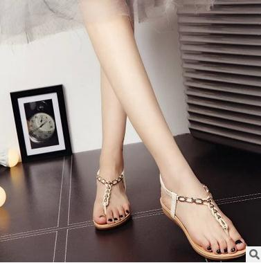 Nice design woman fancy flat shoes fashion design comfortable summer ladies toepost sandals