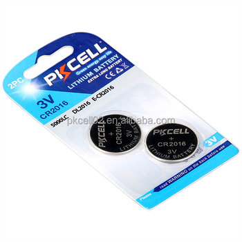 Lithium Manganese Button cell battery CR2016 Coincell