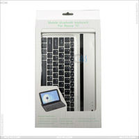 Manufacturer Professional Leather Cover Case Aluminum Bluetooth Keyboard for Google Nexus 10