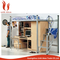 new design commercial furniture student bunk bed with wardrobe