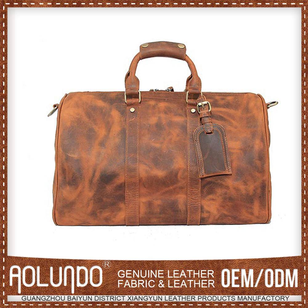 Excellent Quality Price Cutting Leather Multifunction Travel Bag
