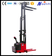 used clamp forklift CE and ISO 1.0-2.0t electric reach stacker icos 1ton 1.5ton 2ton 2.5ton electric pallet stacker for sale han