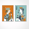Contemporary Poker Canvas Wall Art/playing Card Wall Decor/queen and King shadow Box Frame Canvas Artwork