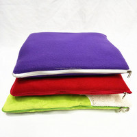 solid colors custom foldable blanket pillow