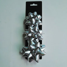 Wholesale Gift Plastic Packaging metallic Ribbon Star Bow