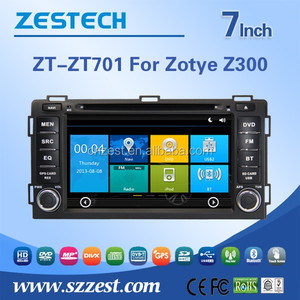 ZESTECH 7 inch 2 din car accessories for ZOTYE Z300 auto spare parts with car entertainment system Steering wheel control GPS 3G