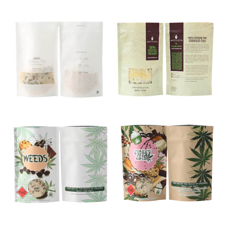 customized Zipper Top coffee paper bag factory