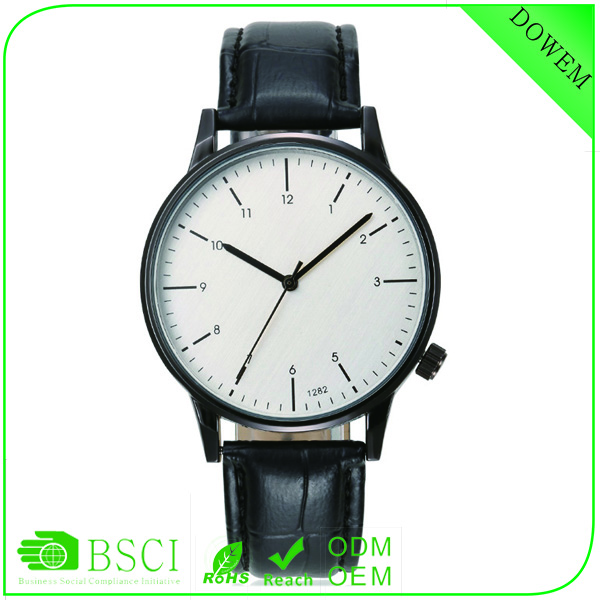 Whole black color Alibaba express promotional crown at 4 o'clock unisex vogue q&q japan brand watch