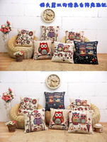 Embroidery Designs Wholesale Decorative Pillow Covers Owl Sofa Cushion Cover A041