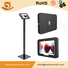 Anti-theft Secure Tablet Floor Stand with Key+Lock, Customized Tablet Enclosure for 10.1 inch screen