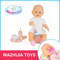 Play house toy hot popular 16 inch cartoon baby doll with diaper