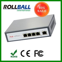 high quality power over ethernet poe switch 48v 15.4w 4 port for AP adjustable
