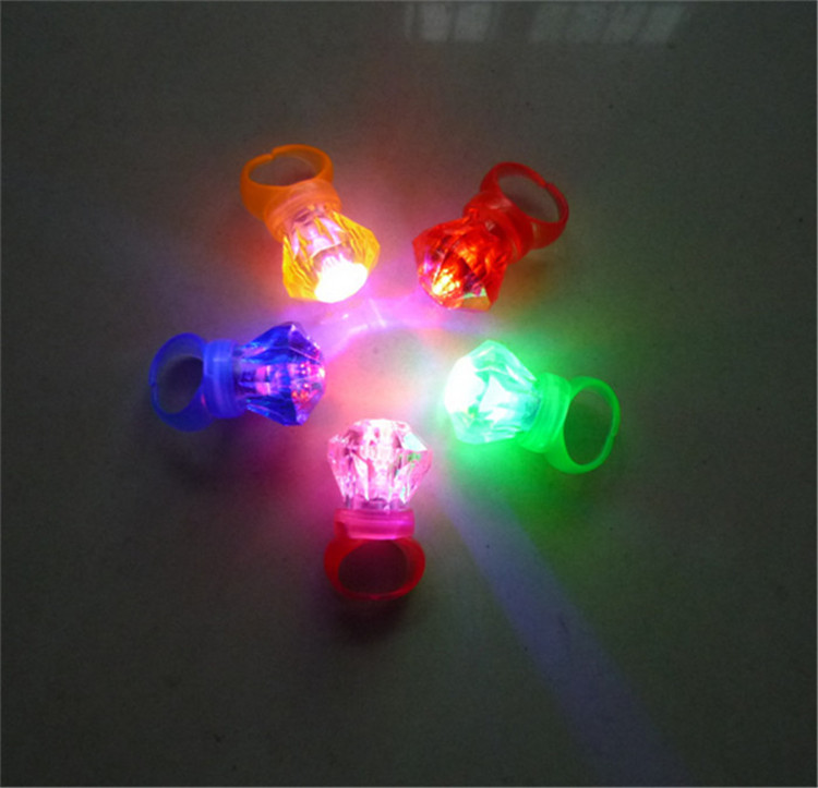 LED Laser Finger Ring <strong>toys</strong> Party Nightclub decoration Gadget glowing Finger ring light Mixcolors Diamond Ring <strong>Toys</strong>