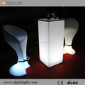 LED Polyethylene Furniture Color Changing LED Light Bar Table Glow Square Cocktail Table