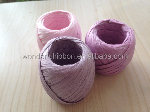 Gift paper raffia ribbon bundle egg for pack/ Plain Color Kraft Paper Raffia Ribbon Egg, Paper Raphia Ribbon Cops