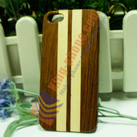 Wood phone case manufacturer Rosewood + Maple cheap wood phone cover for iPhone5