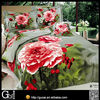 2014 new product flocking design bedding set /bed sheet/duvet cover/pillow