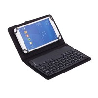 Hot Universal Leather Case Removable Bluetooth Keyboard for 7 inch Tablet