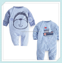 high quality 100% cotton newborn baby clothing infants baby girls boys cartoon monkey/boat romper clothes Xmas gift