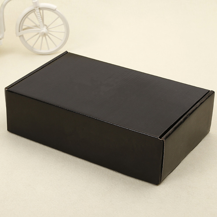 Black Mail Delivery Carton Custom Print Logo Shipping Water Tap Corrugated Box