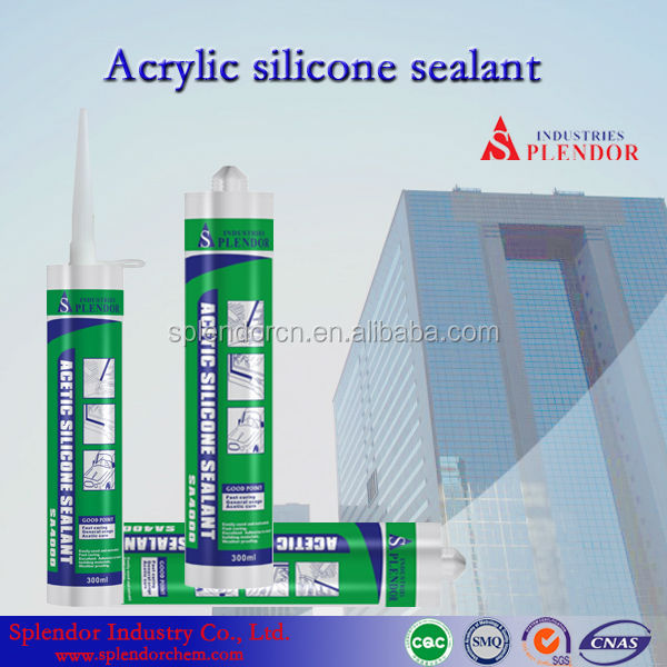 Wholesale Skylight Glass Acetic Silicon Sealant/Splendor Non-Corrosive Silicone Sealant