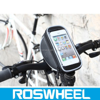 Wholesale high density cheap design Leather bicycle smartphone bag 11810L
