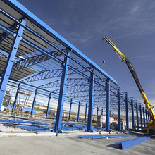 steel structure space frame warehouse workshop/factory shed fabrication