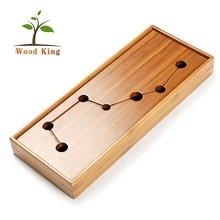 Wholesale Price Of Rectangular Bamboo Tea Set Custom Logo Chinese Tea Set Tray