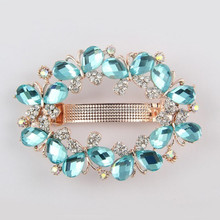 Fashion jewelry Headwear Factory supply charming crystal Hair accessory butterfly design hair clips wholesale