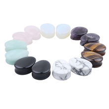 BC201 1 Pair Ear Expander Ear Piercing Stone Plugs Tunnels Gauges Expander Body Piercing Jewelry 5mm-25mm