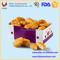 Fried food chicken paper packaging for mc nuggets box