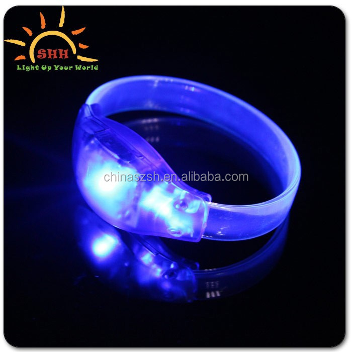 Party flashing bracelet/sound activated play bracelet/logo custom LED bracelet